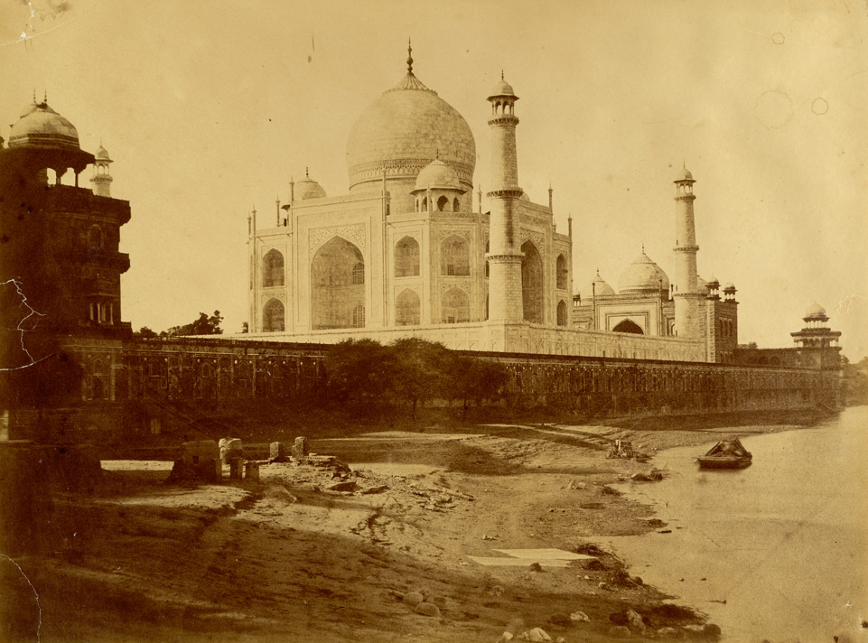 No. 10. Near view of the Taj [Mahal] from the river Jumna, Agra. Taj means sepulchre on an extensive scale: the Emperors of Delhi lie here.